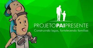 Marca Projeto Pai Presente -Ilustração Pai carregando o Filho no Ombro