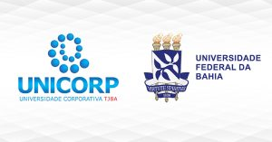 Logo da UNICORP ao lado da logo da UFBA