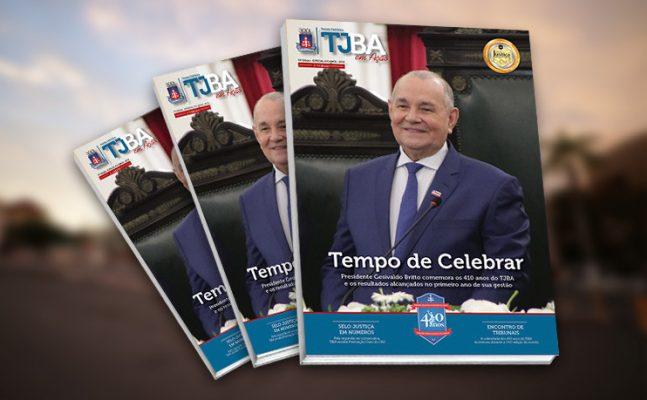 Nova versão da revista eletronica apresentada pela Acom traz o Desembargador Presidente Gesivaldo Britto na capa