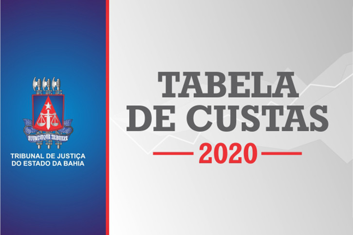 tabela-de-custas-2020 Nova Tabela de Custas, Taxas e Emolumentos entra em vigor a partir do dia 1º de janeiro de 2020