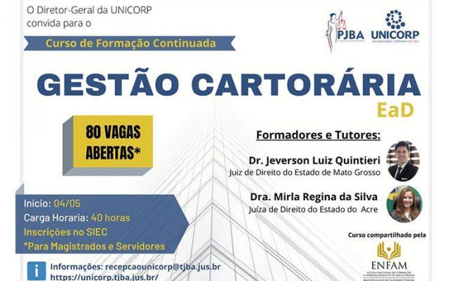 gestao-cartoraria-647x400 Unicorp abre as inscrições para Curso de Gestão Cartorária, credenciado pela Enfam