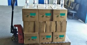 senai-doacao-alcool-gel-mascaras-01-300x157 SENAI-CIMATEC doa 360 litros de álcool e 200 máscaras face shield para o Poder Judiciário da Bahia