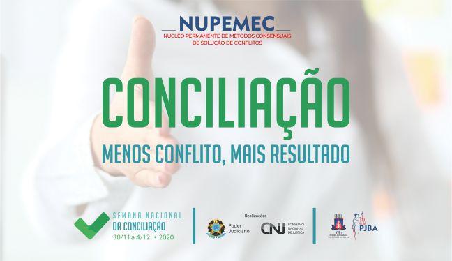 BANNER-CONCILICAO-2020 Interessados em conciliar têm até segunda-feira (26) para se inscrever na XV Semana de Conciliação