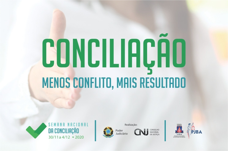 conciliacao-2020 Semana de Conciliação: Unidades têm até o próximo dia 16 para preparar e enviar intimações para as partes