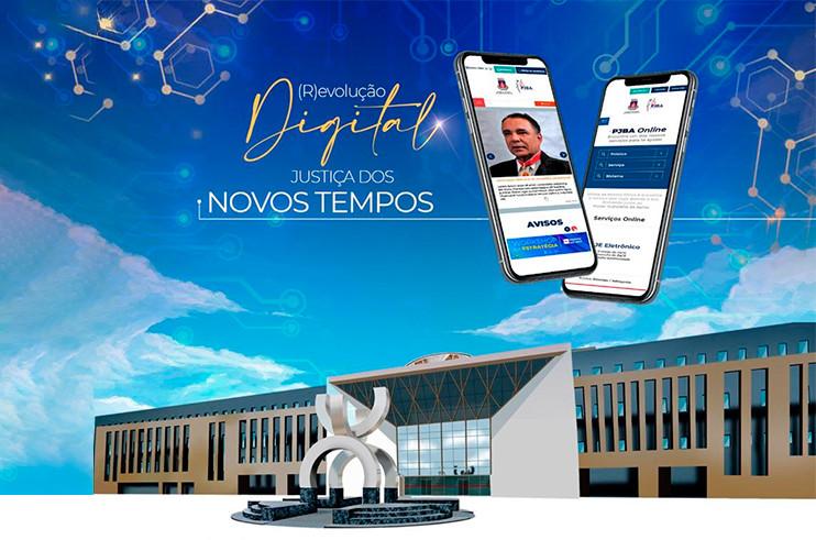 revolucao-digital Primeiro ano de gestão do Desembargador Lourival Trindade: Portal que reúne todos os serviços do PJBA e revista digital marcam a data