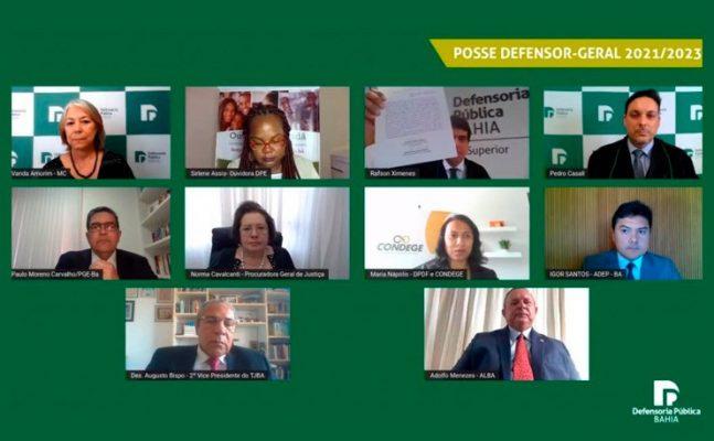 Posse-defensoria-647x400 2º Vice-Presidente, Desembargador Augusto de Lima Bispo, participa da solenidade virtual da posse do Defensor-Geral da Bahia