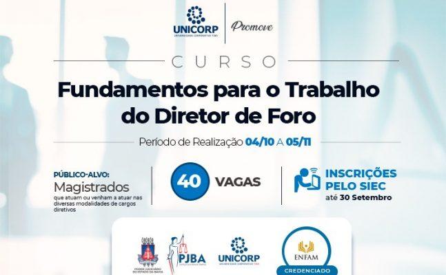 Curso-Fundamentos-para-o-trabalho-do-diretor-de-foro-647x400 Unicorp promove curso credenciado na ENFAM sobre fundamentos para o trabalho do Diretor de Foro; inscrições abertas