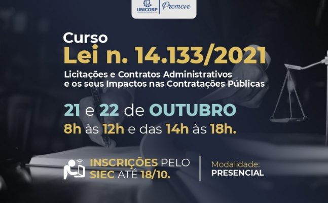 Curso_licitacoes-2-647x400 Unicorp promove curso para abordar as alterações da nova lei de Licitações e Contratos Administrativos; inscrições abertas